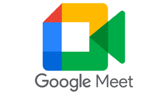 logo Meet de google con enlace